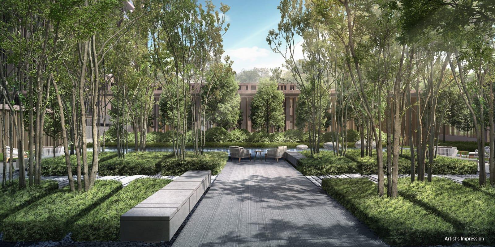 The Avenir greenery